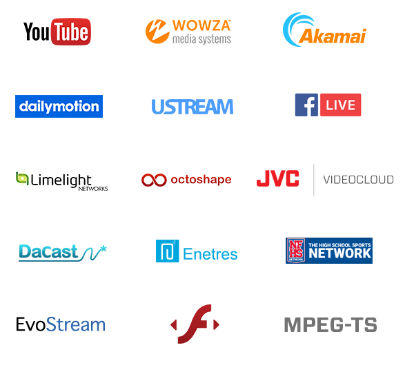 Supported streaming platforms
